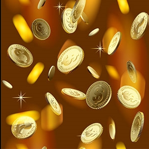 Coins vector set